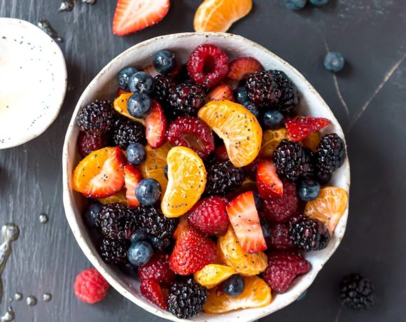 Orange Berry Fruit Salad with Poppy Seed Dressing