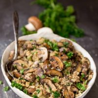 Cauliflower Mushroom Rice