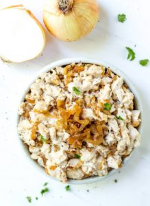 Caramelized Onion Paleo Chicken Salad Recipe