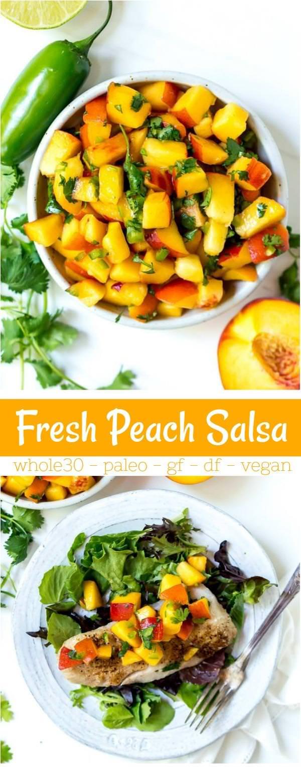 fresh peach salsa recipe photos