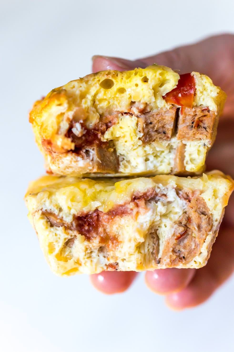 two mini frittata muffins for healthy breakfast ideas