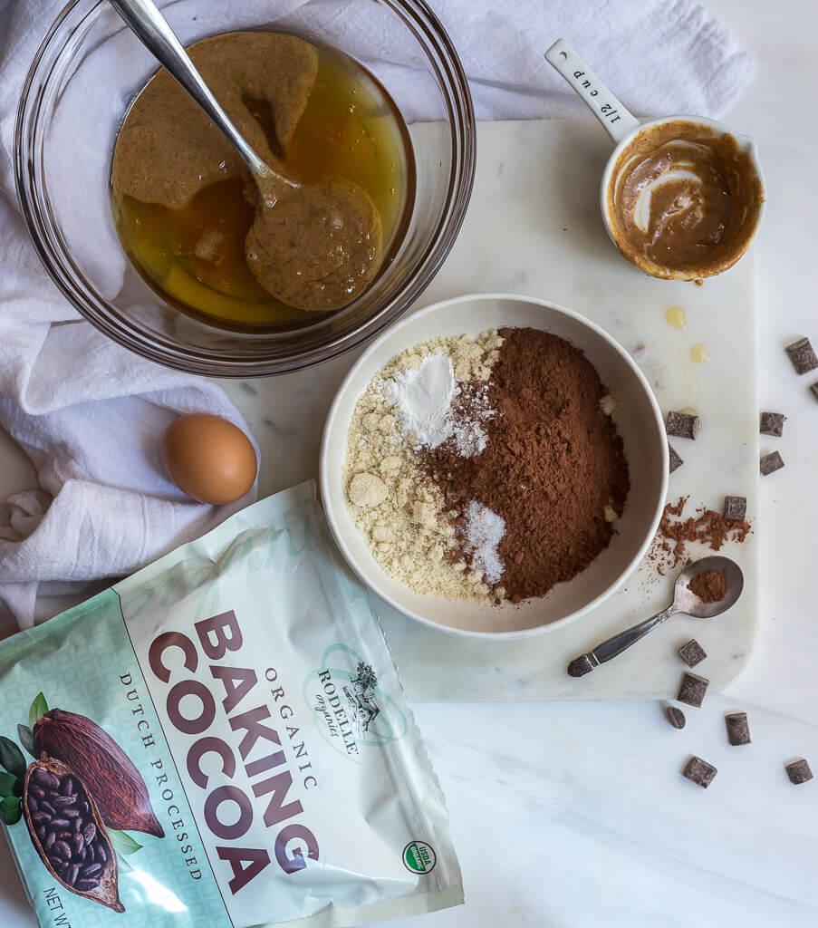 ingredients for gluten free brownies