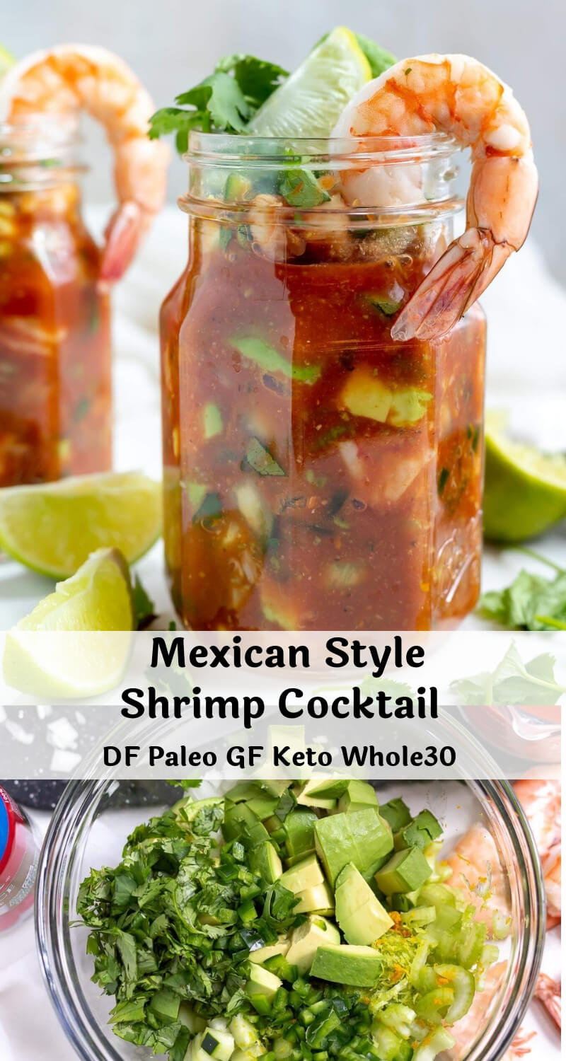 mexican shrimp cocktail recipe photo collage