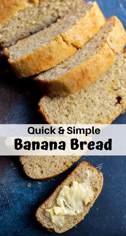 simple banana bread recipe photo collage