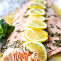 Baked Lemon Basil Salmon Recipe
