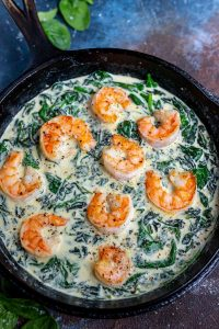 Shrimp and Spinach Cream Sauce