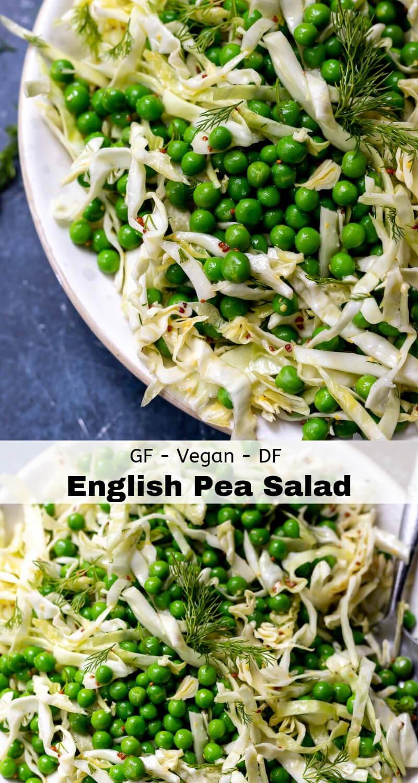 english pea salad recipe photo collage
