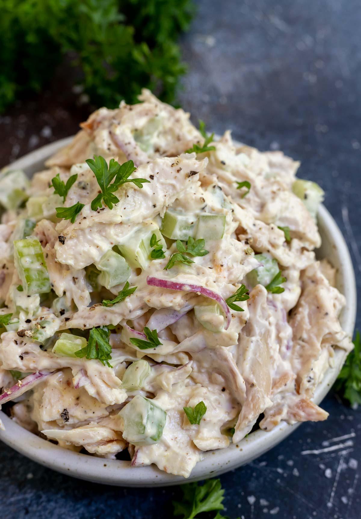 Super Easy Rotisserie Chicken Salad Wonkywonderful